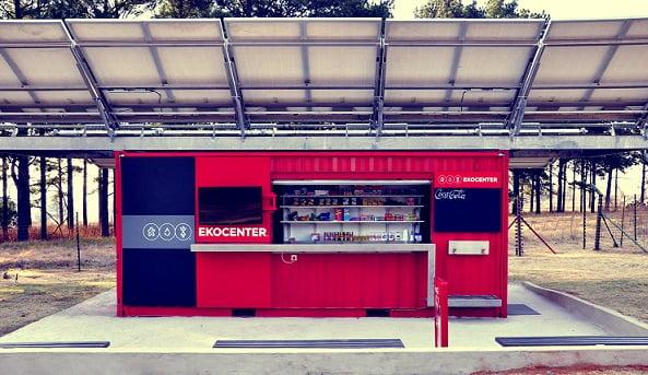 Вендинговый автомат на солнечных панелях Solar Energy Vending