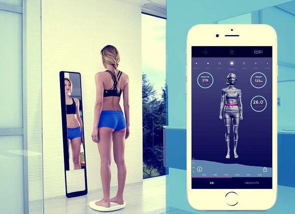 Naked 3D Fitness Tracker умное зеркало сканирует тело