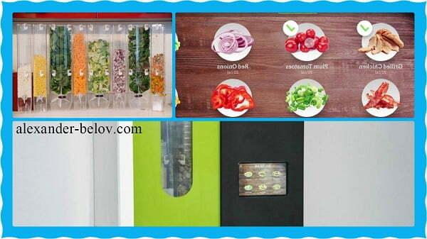 Автомат по приготовлению свежих салатов Sally the Salad Robot