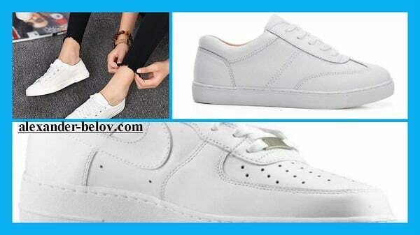 Белые кеды и кроссовки