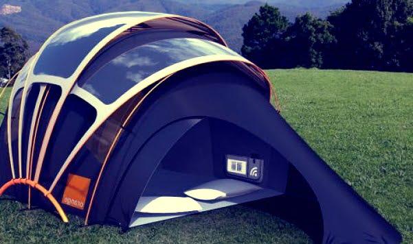 Палатка с солнечными панелями
