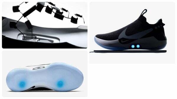 d8317b75 Данная модель кроссовок предназначена для баскетболистов. В новую модель  «Adapt BB» внедрена система автоматической шнуровки, которой можно  управлять ...